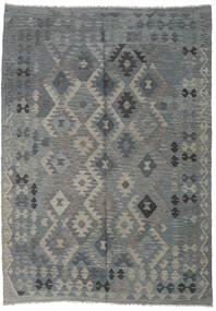 Kilim Afghan Old Style Tapis 204X286 D'orient Tissé À La Main Gris Clair/Gris Foncé (Laine, Afghanistan)