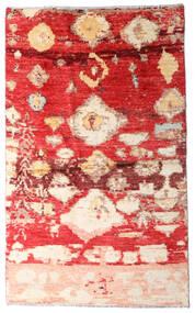 Moroccan Berber - Afghanistan Tapis 123X202 Moderne Fait Main Rouille/Rouge/Rouge Foncé (Laine, Afghanistan)