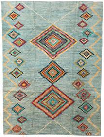 Moroccan Berber - Afghanistan Tapis 203X274 Moderne Fait Main Gris Clair/Bleu Turquoise (Laine, Afghanistan)