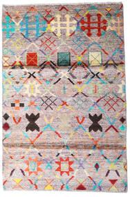 Moroccan Berber - Afghanistan Tapis 119X177 Moderne Fait Main Beige/Gris Foncé (Laine, Afghanistan)