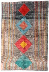Moroccan Berber - Afghanistan Tapis 149X216 Moderne Fait Main Gris Foncé/Gris Clair (Laine, Afghanistan)