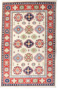 Kazak Tapis 97X151 D'orient Fait Main Beige/Rouille/Rouge (Laine, Afghanistan)