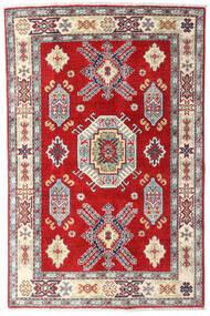 Kazak Tapis 98X150 D'orient Fait Main Beige/Rouille/Rouge (Laine, Afghanistan)