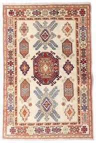 Kazak Tapis 97X147 D'orient Fait Main Beige/Marron Foncé (Laine, Afghanistan)