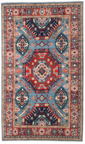 Kazak Tapis 198X332 D'orient Fait Main Gris Foncé/Rouge Foncé (Laine, Afghanistan)