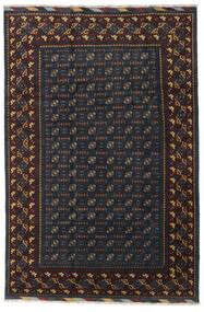 Afghan Tapis 199X297 D'orient Fait Main Noir/Gris Foncé (Laine, Afghanistan)