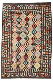 Kilim Afghan Old Style Tapis 198X298 D'orient Tissé À La Main Gris Foncé/Beige Foncé (Laine, Afghanistan)