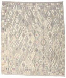 Kilim Afghan Old Style Tapis 264X302 D'orient Tissé À La Main Gris Clair/Beige Grand (Laine, Afghanistan)
