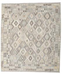 Kilim Afghan Old Style Tapis 257X296 D'orient Tissé À La Main Gris Clair Grand (Laine, Afghanistan)