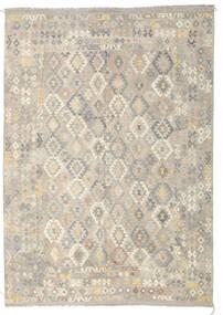Kilim Afghan Old Style Tapis 246X349 D'orient Tissé À La Main Gris Clair/Beige Foncé (Laine, Afghanistan)