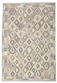 Kilim Afghan Old Style Tapis 242X350 D'orient Tissé À La Main Gris Clair/Beige (Laine, Afghanistan)