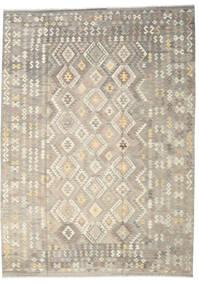 Kilim Afghan Old Style Tapis 249X345 D'orient Tissé À La Main Gris Clair/Beige (Laine, Afghanistan)