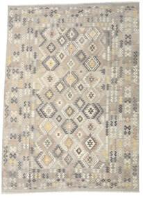 Kilim Afghan Old Style Tapis 251X346 D'orient Tissé À La Main Gris Clair/Beige Grand (Laine, Afghanistan)