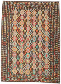 Kilim Afghan Old Style Tapis 270X372 D'orient Tissé À La Main Marron Foncé/Marron Grand (Laine, Afghanistan)