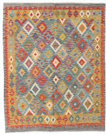 Kilim Afghan Old Style Tapis 151X191 D'orient Tissé À La Main Beige Foncé/Gris Foncé (Laine, Afghanistan)