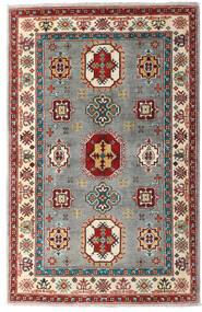 Kazak Tapis 99X150 D'orient Fait Main Rouge Foncé/Gris Clair (Laine, Pakistan)