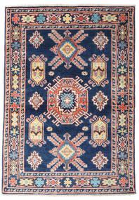 Kazak Tapis 97X139 D'orient Fait Main Bleu Foncé/Rose Clair (Laine, Afghanistan)