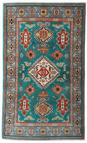 Kazak Tapis 95X161 D'orient Fait Main Turquoise Foncé/Rouge Foncé (Laine, Pakistan)