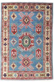 Kazak Tapis 97X146 D'orient Fait Main Gris Foncé/Rouge Foncé (Laine, Afghanistan)