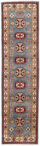 Kazak Tapis 81X309 D'orient Fait Main Tapis Couloir Rouge Foncé/Bleu (Laine, Afghanistan)