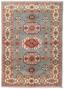 Kazak Tapis 124X174 D'orient Fait Main Gris Foncé/Rouge Foncé (Laine, Pakistan)