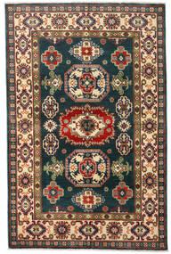 Kazak Tapis 120X184 D'orient Fait Main Bleu Foncé/Rouge Foncé (Laine, Afghanistan)
