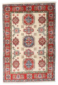 Kazak Tapis 84X125 D'orient Fait Main Beige/Marron Foncé (Laine, Afghanistan)