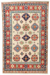 Kazak Tapis 119X187 D'orient Fait Main Beige/Gris Foncé (Laine, Afghanistan)