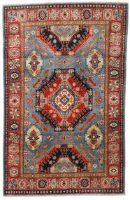 Kazak Tapis 117X185 D'orient Fait Main Marron Foncé/Rouille/Rouge (Laine, Afghanistan)