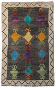 Moroccan Berber - Afghanistan Tapis 84X134 Moderne Fait Main Gris Foncé/Gris Clair (Laine, Afghanistan)