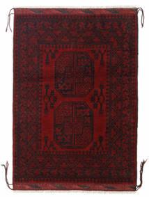 Afghan Tapis 85X117 D'orient Fait Main Rouge Foncé/Marron Foncé (Laine, Afghanistan)