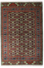 Turkaman Tapis 138X207 D'orient Fait Main Rouge Foncé/Marron Foncé (Laine, Perse/Iran)