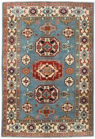 Kazak Tapis 122X180 D'orient Fait Main Rouge Foncé/Gris Clair (Laine, Afghanistan)