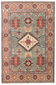 Kazak Tapis 121X184 D'orient Fait Main Rouge Foncé/Beige (Laine, Pakistan)
