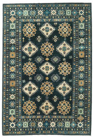 Kazak Tapis 203X298 D'orient Fait Main Bleu Foncé/Turquoise Foncé (Laine, Afghanistan)