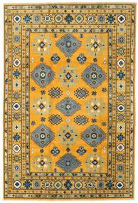 Kazak Tapis 199X296 D'orient Fait Main Orange/Gris Foncé (Laine, Afghanistan)