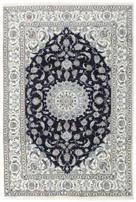 Naïn Tapis 196X290 D'orient Fait Main Gris Clair/Violet Foncé (Laine, Perse/Iran)