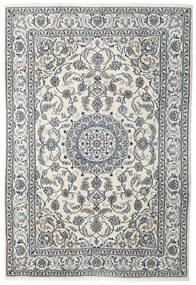 Naïn Tapis 198X288 D'orient Fait Main Beige/Gris Clair (Laine, Perse/Iran)