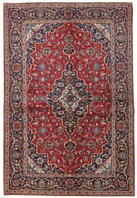 Kashan Tapis 149X223 D'orient Fait Main Rouge Foncé/Violet Foncé (Laine, Perse/Iran)