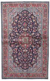 Sarough Sherkat Farsh Tapis 130X208 D'orient Fait Main Violet Foncé/Gris Clair (Laine, Perse/Iran)