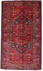 Hamadan Tapis 135X228 D'orient Fait Main Rouge Foncé/Rouge (Laine, Perse/Iran)