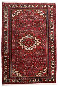 Hosseinabad Tapis 109X160 D'orient Fait Main Rouge Foncé/Marron Foncé (Laine, Perse/Iran)