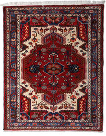 Hamadan Tapis 116X148 D'orient Fait Main Rouge Foncé/Gris Clair (Laine, Perse/Iran)