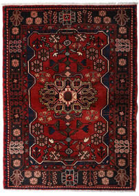 Hamadan Tapis 113X158 D'orient Fait Main Marron Foncé/Rouge Foncé (Laine, Perse/Iran)