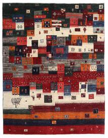 Gabbeh Persan Tapis 167X213 Moderne Fait Main Rouge Foncé/Noir/Marron Foncé (Laine, Perse/Iran)
