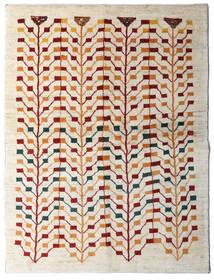 Gabbeh Persan Tapis 151X198 Moderne Fait Main Beige/Gris Clair (Laine, Perse/Iran)
