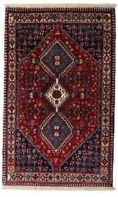 Yalameh Tapis 83X134 D'orient Fait Main Rouge Foncé (Laine, Perse/Iran)