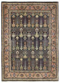 Tabriz 50 Raj Tapis 150X198 D'orient Fait Main Gris Foncé/Bleu Foncé (Laine, Perse/Iran)