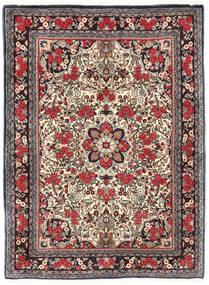Bidjar Tapis 115X155 D'orient Fait Main Marron Foncé/Rouge Foncé (Laine, Perse/Iran)