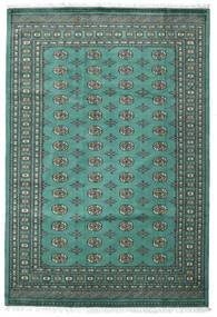 Pakistan Boukhara 2Ply Tapis 187X276 D'orient Fait Main Bleu Turquoise/Gris Foncé (Laine, Pakistan)